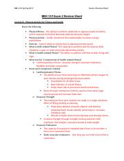 BBH 119 Exam 2 Review Sheet