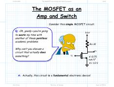 15 - The MOSFET as an Amp and Switch present.pdf