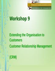 Workshop 09- Extending Organisation to Customers CRM(1)