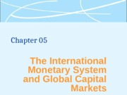 Lecture 05 - International Monetary system