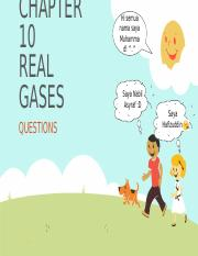 REAL GAS QUESTIONS
