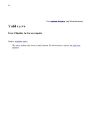 Yield curve - Wikipedia, the free encyclopedia