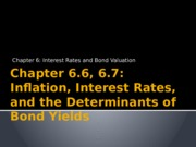 Chapter 6.6, 6.7 - Inflation & the determinants of interest rates.pptx