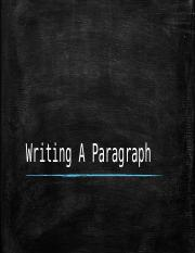 Writing A Paragraph.pptx