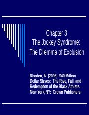 Chapter 3 The Dilemma