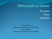 western and eastern philosophers phi 105