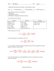 Exam 1 Solution Summer 2014 on General Chemistry