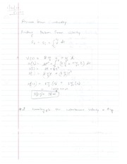 Finding Position from Velocity Notes