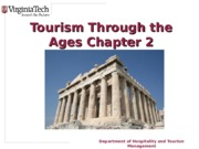 HTM2454, Nancy McGehee, spring 2014, powerpoint slides Chapter 2 Tourism+through+the+Ages