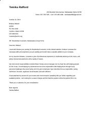 AMHC Residential Counceling Cover Letter