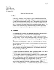 Paper One Thesis and Outline