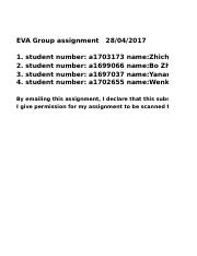 EVA group assignment a1703173 a1699066 a1697037 a1702655.xlsx