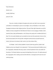 Religion 2nd Essay