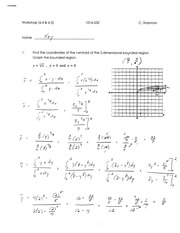 Calculus for Engineering Technology 2 Workshop 2 answers