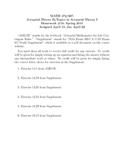 Spring 2015 Homework10 Solutions - Forward Rates