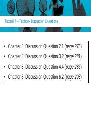 Tutorial 7 Discussion Questions(10)