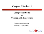 Chapter 19- Using Social Media to Connect with Consumers Pt. 1