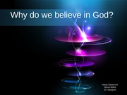 Why do we believe in God -