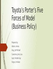 Toyota's Porter's Five Forces of Model.pptx