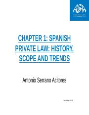 Chapter 1 Spanish Private Law (1)