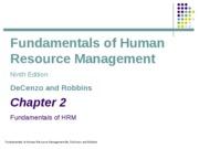 ch02_Fundamentals of HRM