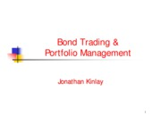 Bond Trading 1999 - Bond Portfolio Management