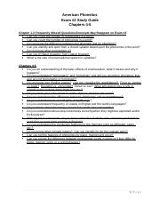 Exam 2 Study Guide - Chapters 4-5