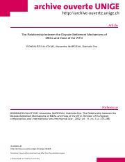 The relationship of DSM between MEA & WTO.pdf