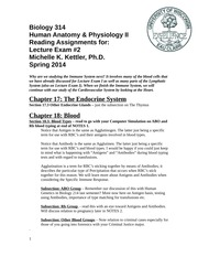 Biol 314 Readings for Lecture Exam 2