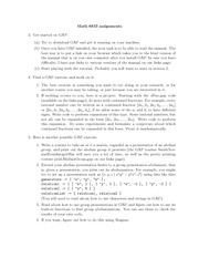 Homework B on Computation For Pure Mathematicians