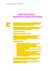 QNT351 Week 2 Learning Team Paper - Data Collection