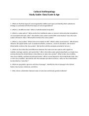 Study Guide-Grouping by Class-Caste & Age Revised Spring 2013.docx