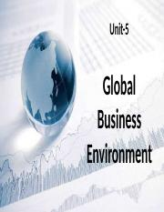 Unit-5 Global Business Environment.pptx