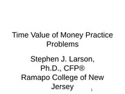 Time Value of Money Practice Problems
