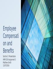 Employee Compensation and Benefits part2