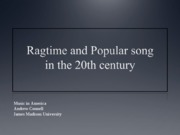 11 Ragtime & Popular Song