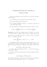 Lecture Notes on Fixed Proofs