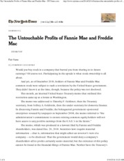 FIN 3334- Fannie Mae and Freddie Mac article