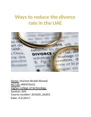 Ways to reduce the divorce rate in the UAE