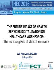 667_2016 HEC - Impact Health Services Digitalizaton on Health Worrforce -Lapao- Aug2016v2