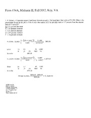 exam2 fin370 b key Cs 4400-b exam 2 spring 2016 answer key aa relation has only one primary key hence tuples must appear in order of their primary key values bmathematically.
