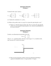Quantum Mechanics Problems