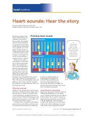 Heart sounds Hear the story