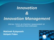 Innovation and innovation management