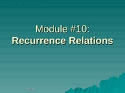Module-10-Recurrences