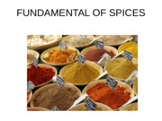 Week 6 -FUNDAMENTAL OF SPICES2
