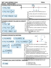 FINAL EXAM - MET 1500 - NOTE SHEET (SPRING 2014)