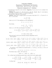 MATH 401 Winter 2015 Assignment 4 Solutions