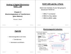 ECET-329 Chapter 8 incl Motors - 4pp