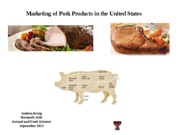 Marketing of Pork